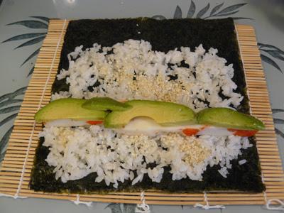Crab & Avocado Sushi