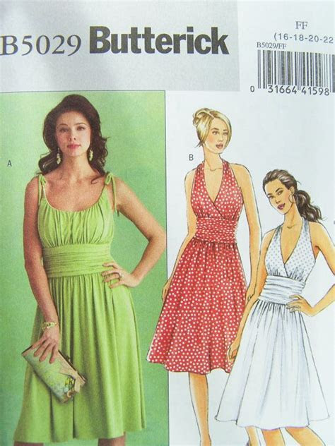 Butterick B5029 Sewing Pattern Misses' Gathered by