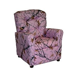 Amazon.com: Brazil Furniture 4 Button Back Child Recliner - True ...