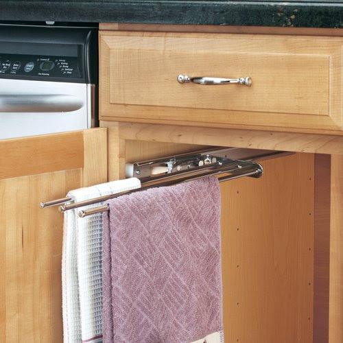 Rev A Shelf 3 Prong Towel Bar Chrome 563 47c Cabinetpartscom