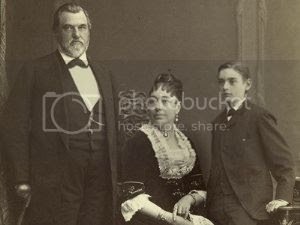 Jane Stanford and her family
