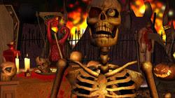 Sample Halloween content scene