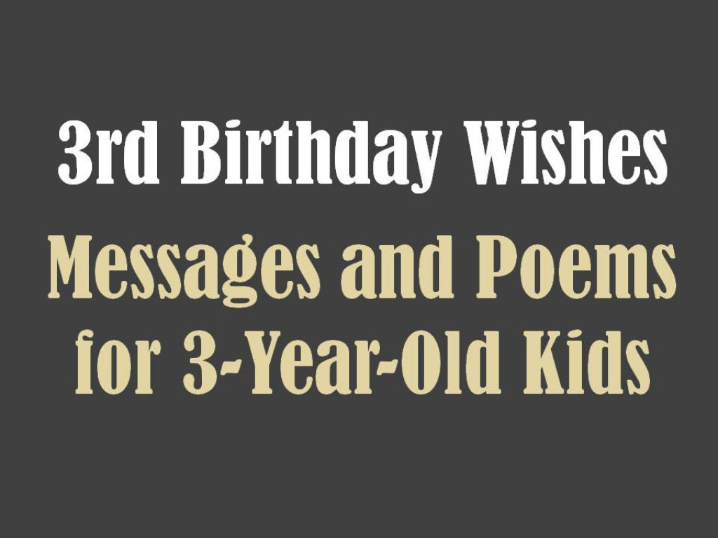 Birthday Quotes For 3 Year Old Baby Girl From Mother