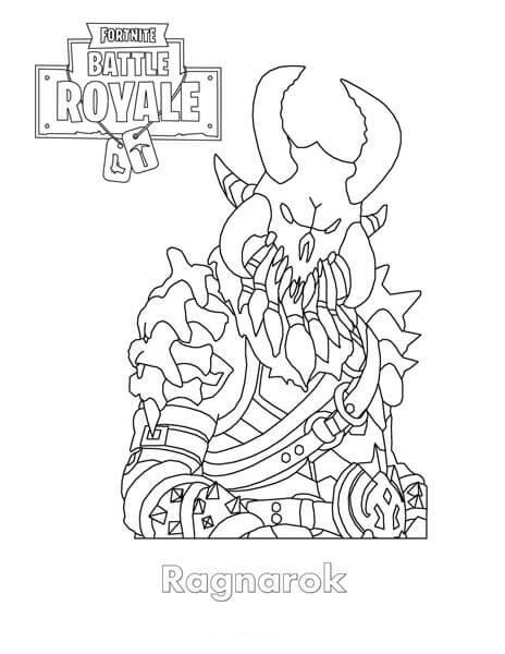 Fortnite Battle Royale Coloring Page Raptor Imprimibles T