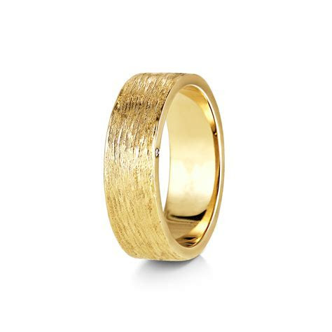 Wedding Bands   Bark Texture Band with Diamond Detail