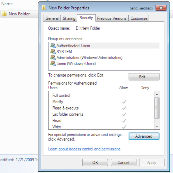 how to give permission to user in windows 8