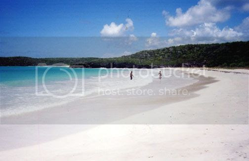 Corcho beach in the Caribbean