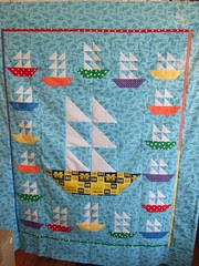Sail boat quilt
