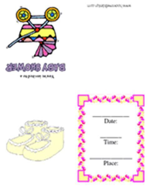 Baby Girl's Carriage Baby Shower Free Printable Party