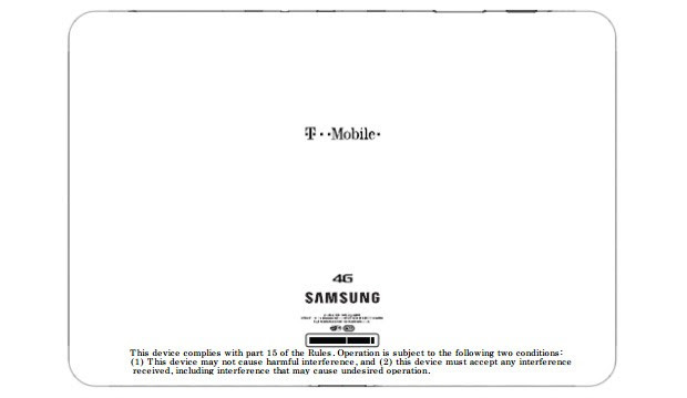 Samsung SGHT799 tablet turns up at the FCC wearing TMobile's 4G colors
