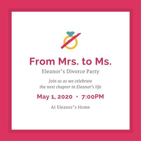 Pink Flamingo Divorce Party Invitation   Templates by Canva