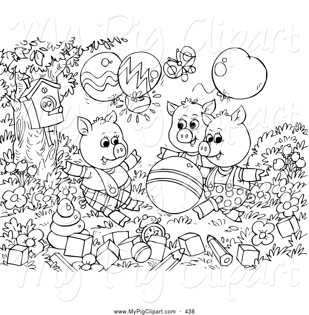 Royalty Free Fairy Tale Stock Pig Designs