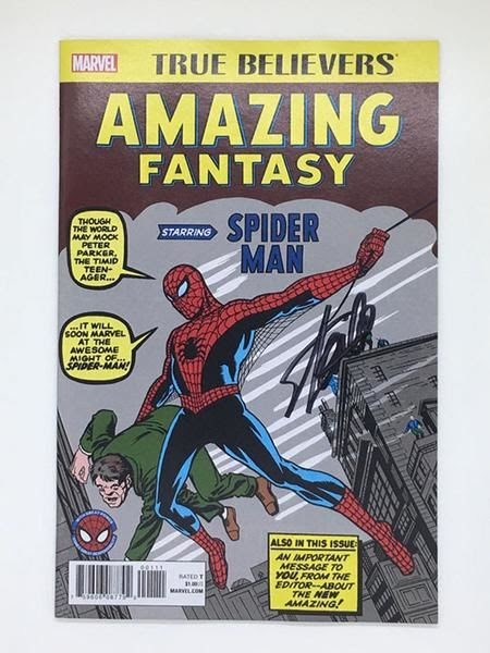 Marvel Comics Signed By Stan Lee