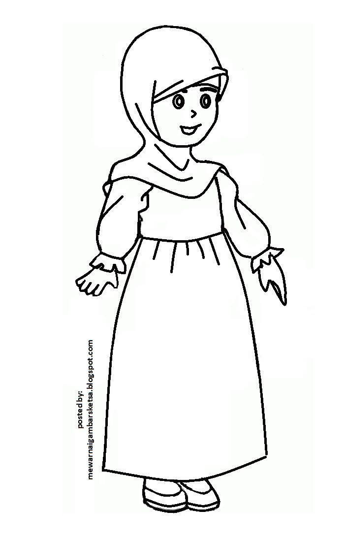 Gambar Anak Muslim Kartun Untuk Mewarnai Khazanah Islam