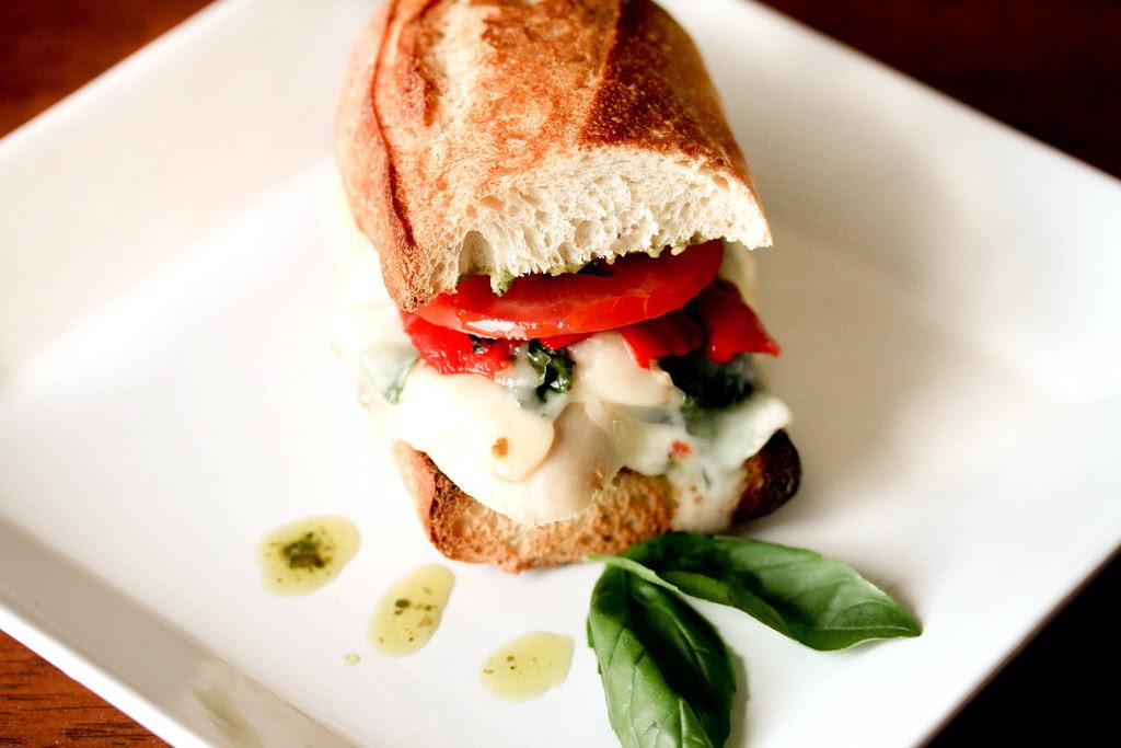 Mozzarella & Pesto Chicken Sandwich