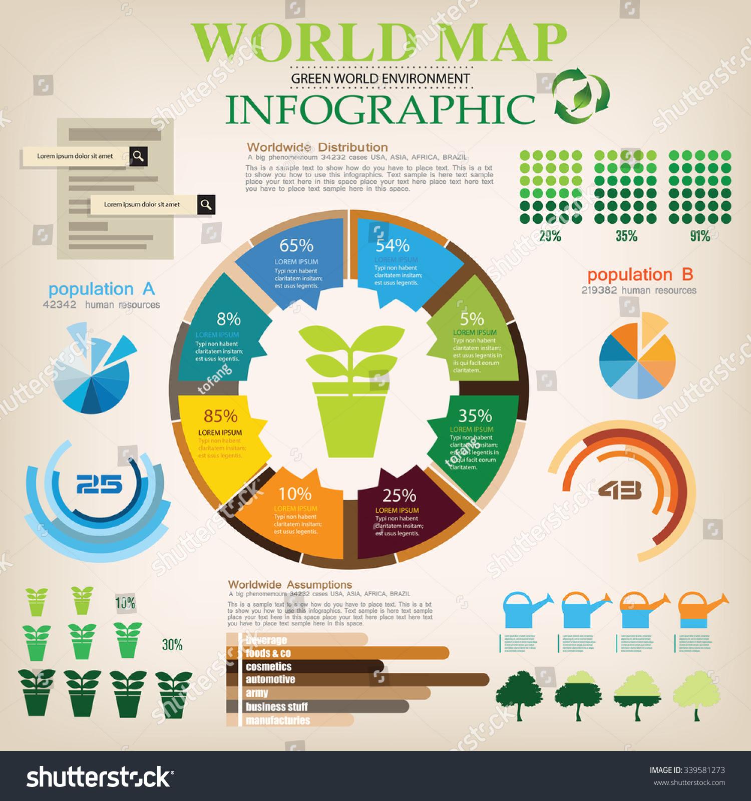 Eco Map Info Graphic Vector Stock Vector 339581273 - Shutterstock