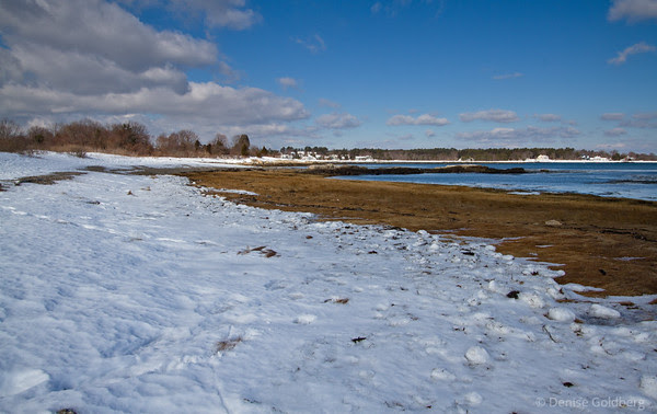 Odiorne Point State Park, snow, water, horizon