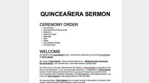 Quinceañera Sermon