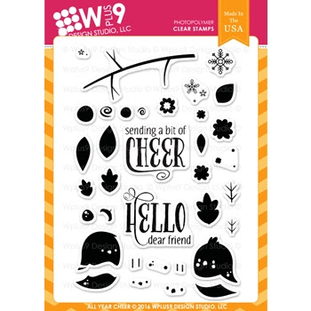 Wplus9 ALL YEAR CHEER Clear Stamps CLWP9AYC