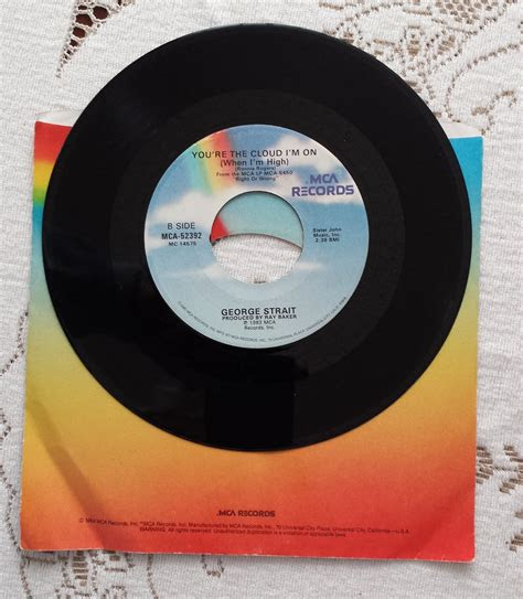 vinyl george strait record lets fall  pieces