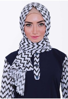 Hijab Pashmina Monochrome