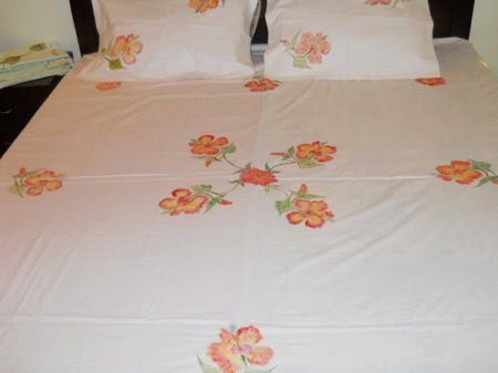 Fabric Painting Designs On Bed Sheets Video Priyas Gallery Fabric