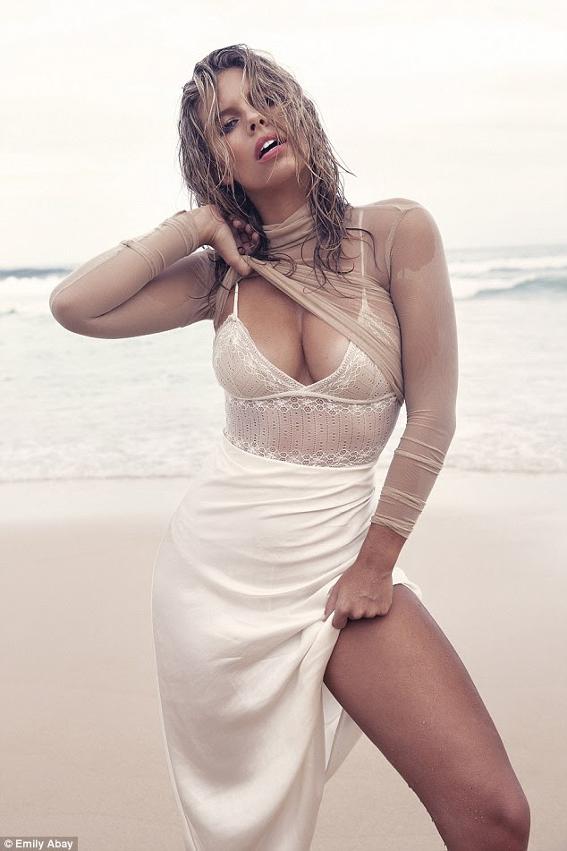 Simply stunning: Natasha Oakley put her famous curves on display in what is perhaps her raciest photoshoot to date this week