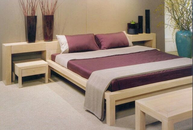 Image - Simple-Wooden-Double-Bed-In-Contemporary-Bedroom ...