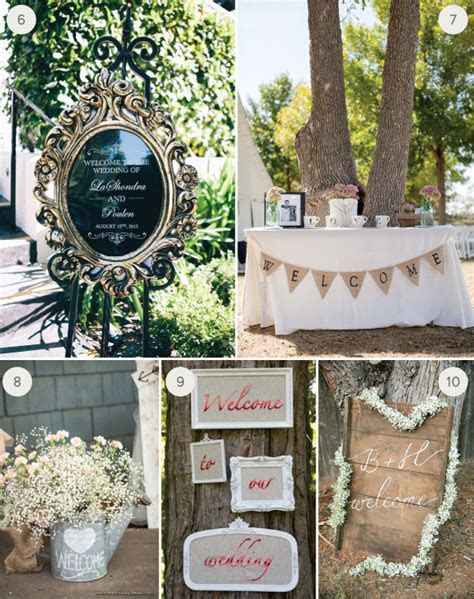 Wedding Inspiration: 10 Creative Welcome Signs   Julep