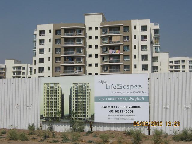 Konark Exotica & compound of Alfa Life Scapes, 2 BHK & 3 BHK Flats, on Wagholi Kesnand Road, Wagholi, Pune 412 207