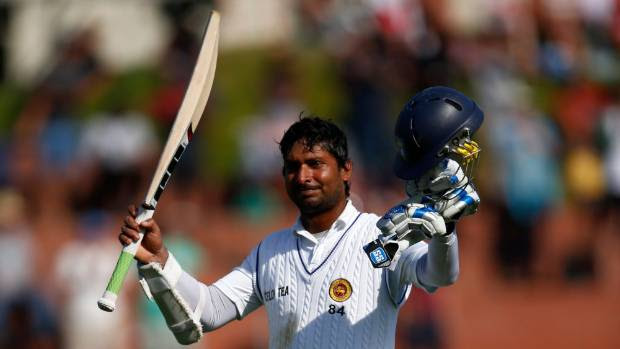 HEALING POWERS:  Sri Lanka's Kumar Sangakkara leaves the field after scoring 203 in the second test.