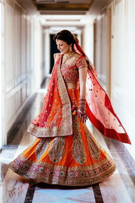 Pretty Indian bride in lehenga   Indian bridal makeup and