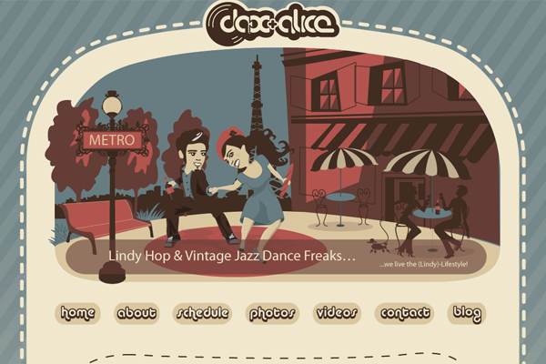 dax and alice website illustrations graphics
