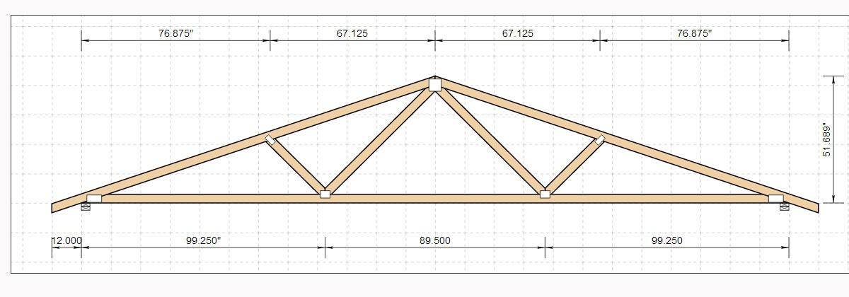 Jobbers topic 24 ft wood truss plans for Truss plan