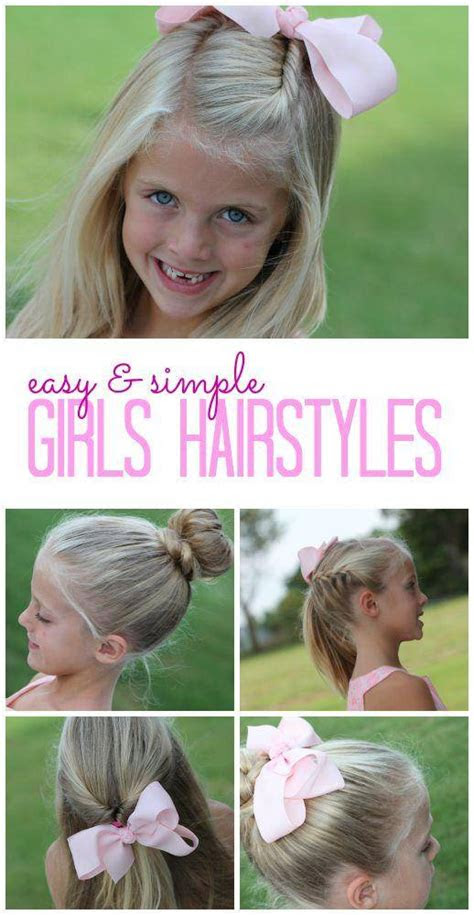 easy girls hairstyles    school