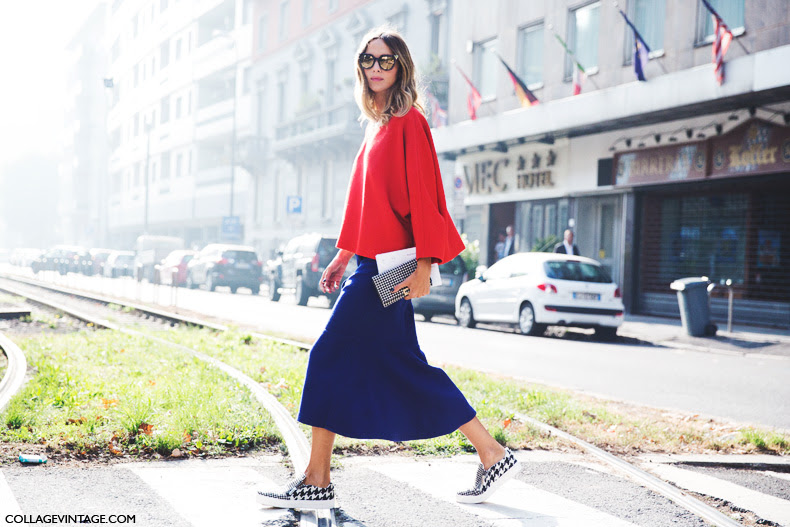 Milan_Fashion_Week_Spring_Summer_15-MFW-Street_Style-Candela_Novembre-Electric_Blue-Slippers-Midi_Skirt-6