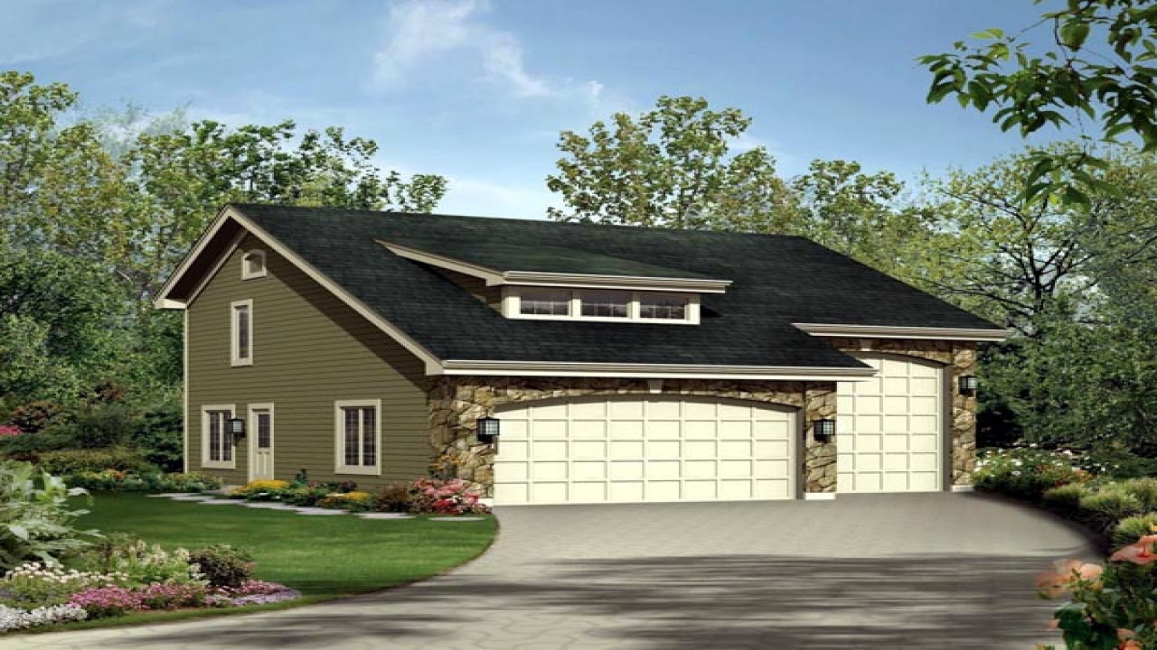 Single Level House with RV Garage RV Garage with Apartment