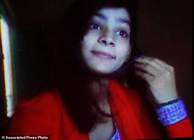 Burned alive: Zeenat Rafiq died after her mother and brother tied her up and set her on fire in the family home in Lahore, eastern Pakistan