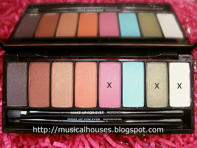 Pink Green Eyesahadow Colours MUFE Arty Blossom Palette