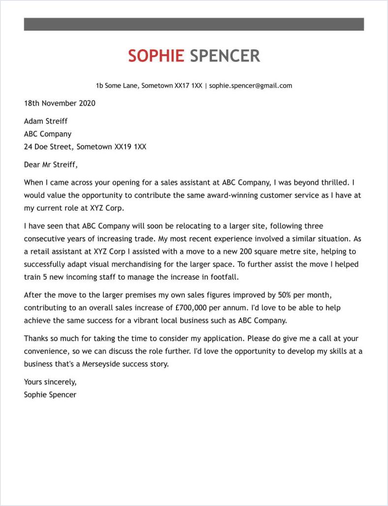 secretary cover letter full