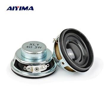 2pcs 50mm 4Ohm 4Ω 3W Full Range Audio Speaker Stereo Woofer Loudspeaker Horn