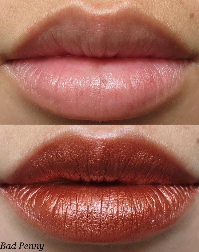 Portland Black Lipstick Company Bad Penny Swatch