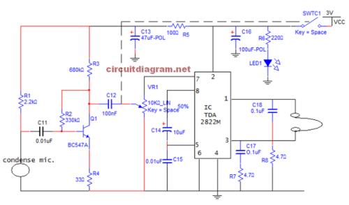 Ic 4558 Hearing Aid Circuit - Circuit Diagram Images