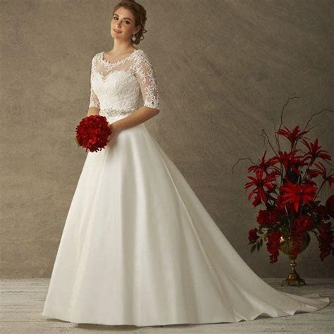Find More Wedding Dresses Information about Modest See