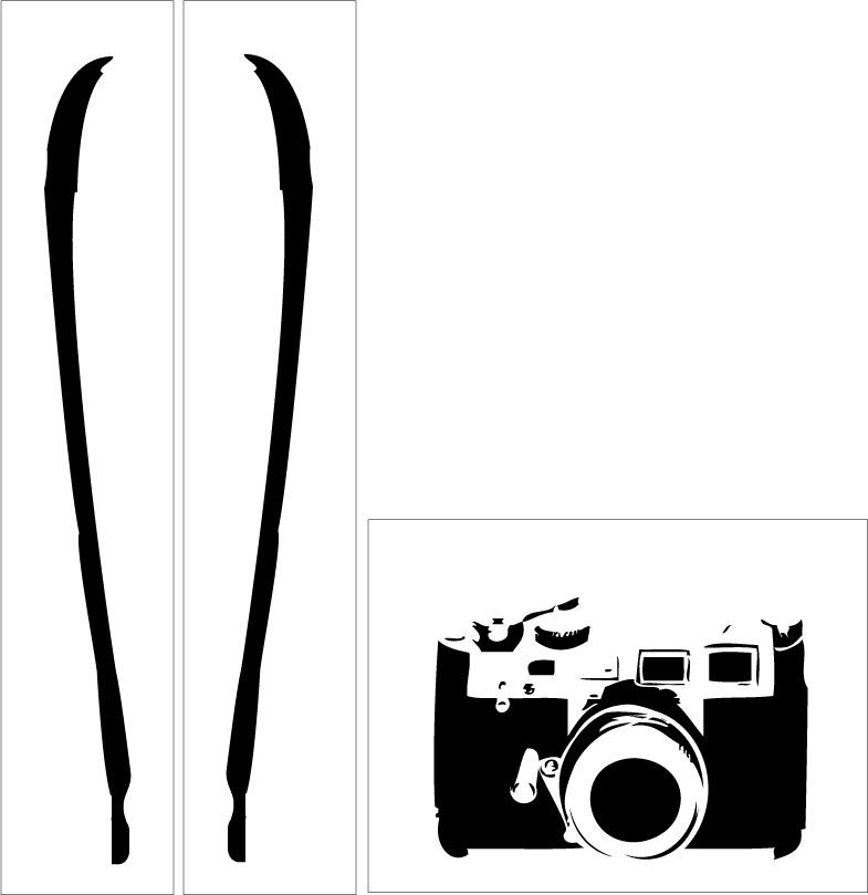デリキャスオリジナルステンシルシートリアルイラストカメラa
