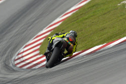 Valentino Rossi tests the 2013 Yamaha YZR M1 in Sepang
