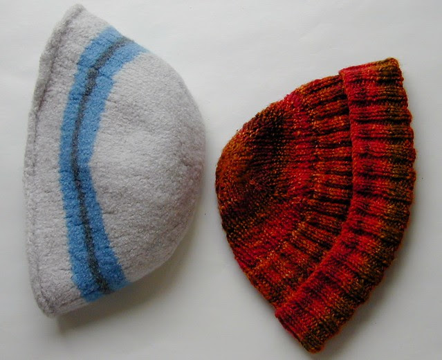 Hannah's Felted Hat size comparison