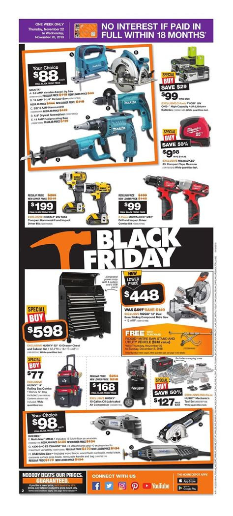 home depot black friday  canada sale flyer
