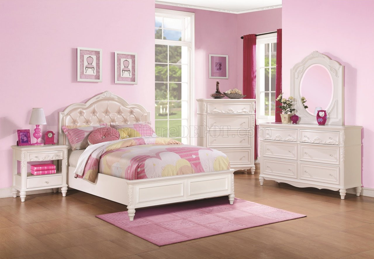 400720 Caroline Kids Bedroom in White by Coaster w/Options