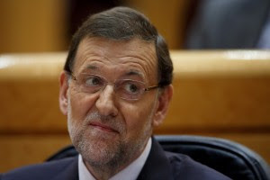MADRID, SPAIN - AUGUST 01: Spanish Prime Minister Mariano Rajoy (Popular Party leader) attends a parliament session to speak over allegations on corruption scandals on August 1, 2013 in Madrid, Spain. Rajoy admitted he made a mistake in trusting his former party treasurer Luis Barcenas but denied doing anything wrong himself. (Photo by Pablo Blazquez Dominguez/Getty Images)